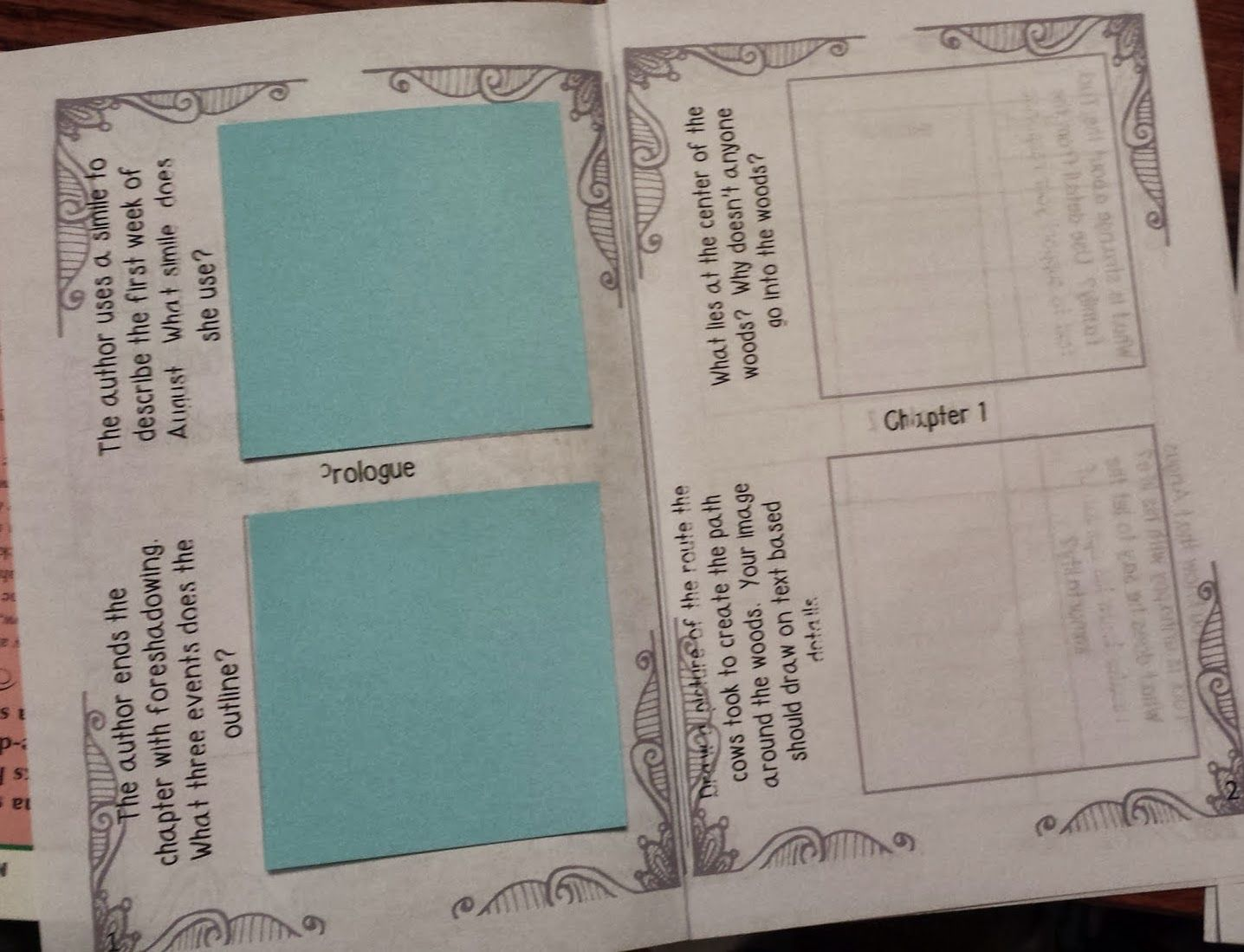 Tuck Everlasting Sticky Note Comprehension Booklet