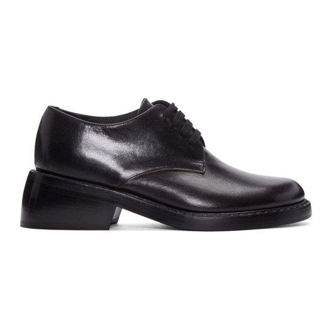 ANN DEMEULEMEESTER | Black Tamponata Derbys #Shoes #Lace ups & oxfords #ANN  DEMEULEMEESTER