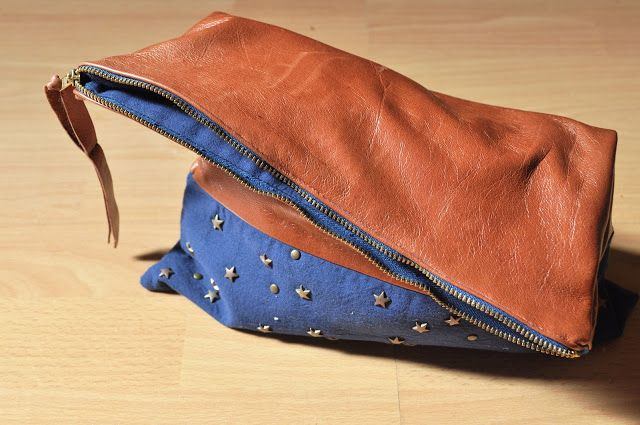 homemade leather bag