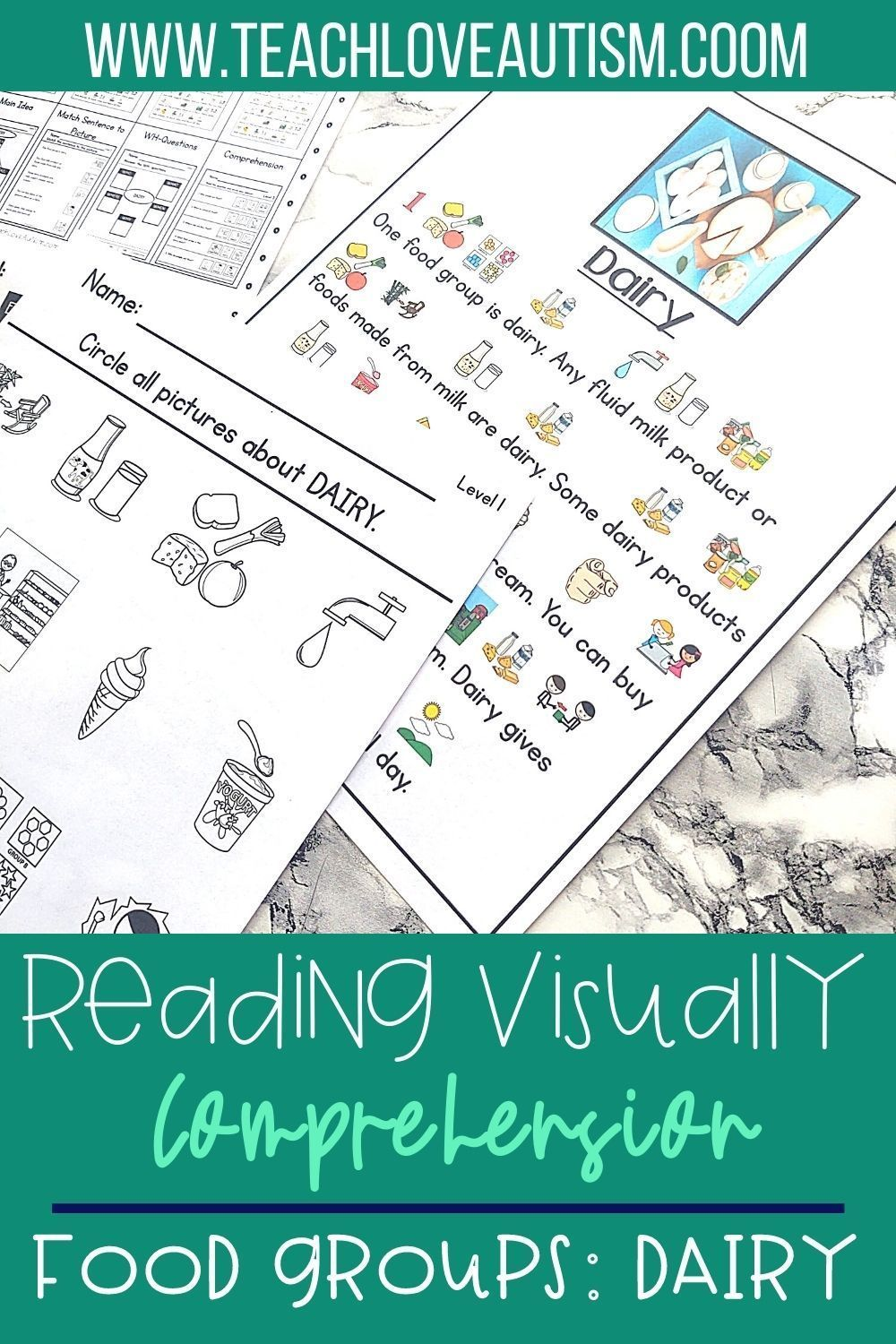 Dairy Reading Visually Comprehension In 2021 Autism Classroom Activities Special Education Visual Reading Comprehension Skills [ 1500 x 1000 Pixel ]