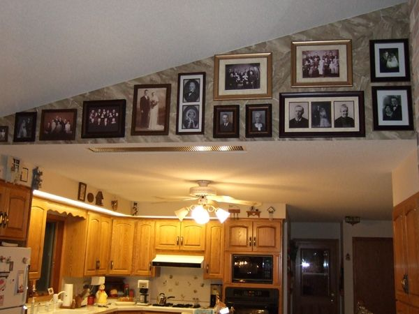 Decorating With Vaulted Ceilings frames on a slanted wall | photo displays in rooms | pinterest