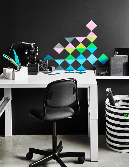 Multi Colored Triangular Stickers Are Arranged Decoratively