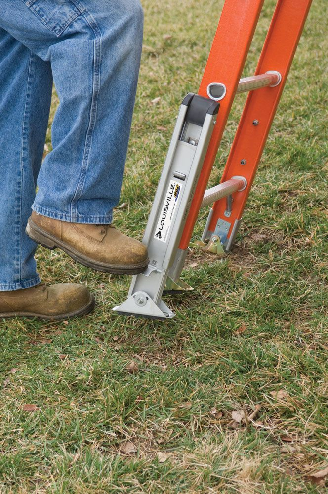 Not Sure What To Do When You Have To Use A Ladder On Uneven Ground That S What Ladder Levelers Are For Ladder Leveler Ladder Louisville