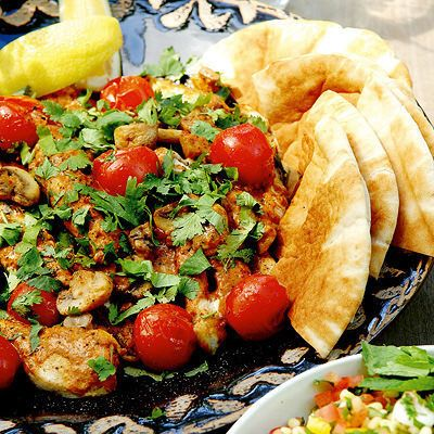 libanesisk kyckling med tabbouleh