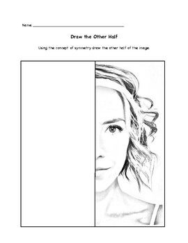 Draw the Other Half Person Edition | Classroom | Pinterest