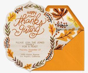 thanksgiving free online invitations holiday invitations