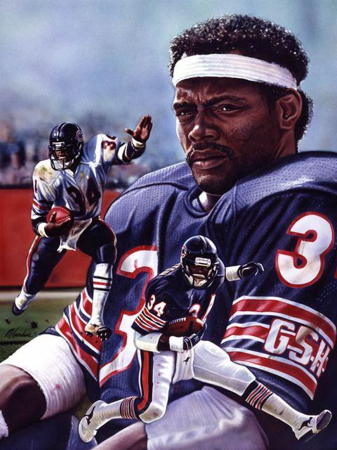 Walter Payton Art Chicago Bears Football Chicago Bears Chicago Bears Wallpaper