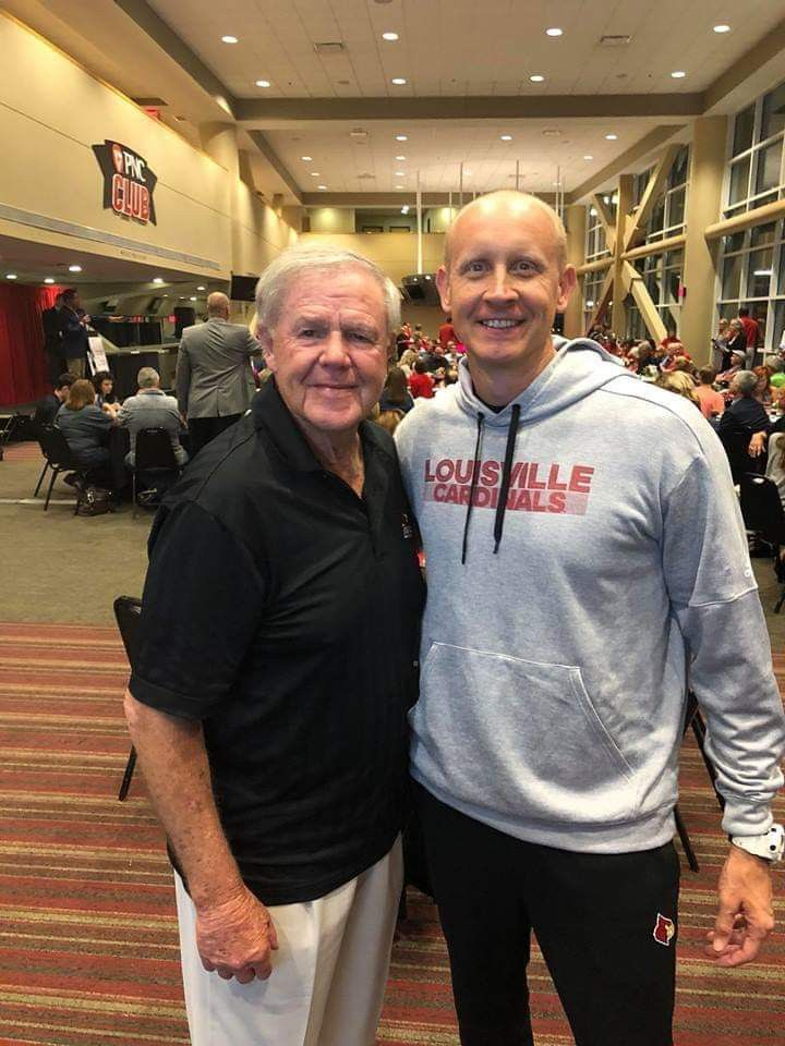 Denny Crum and Chris Mack 2018 Louisville cardinals