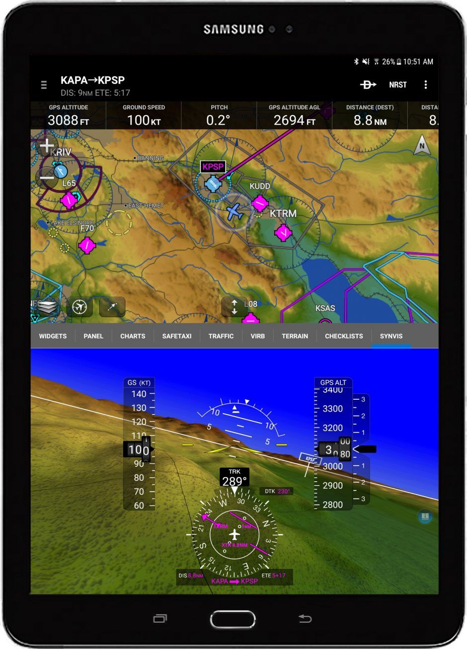 Garmin synthetic vision (SVX) and pilotconfigurable