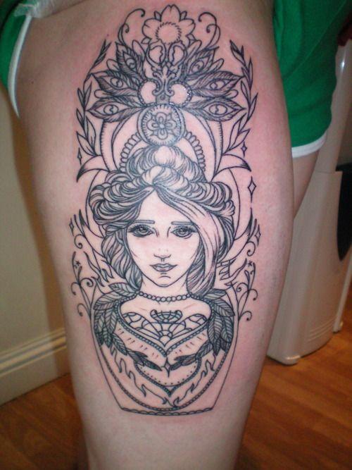 Tattoo. Girl.