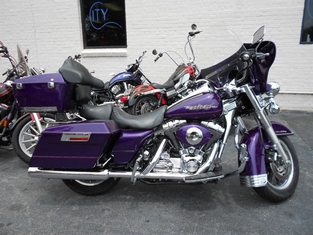 Purple Harley Davidson Bikes Purple 2001 Harley Davidson Road King