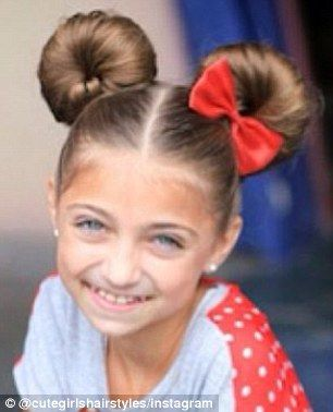 This Minnie Mouse Hairstyle Is Perfect For Any Disney Themed Party Or Even A Trip To Disney World Land Hair Styles Kids Hairstyles Little Girl Hairstyles