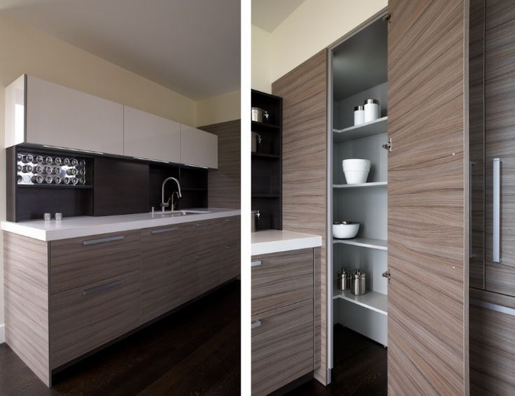 Contemporary Corner Kitchen Pantry