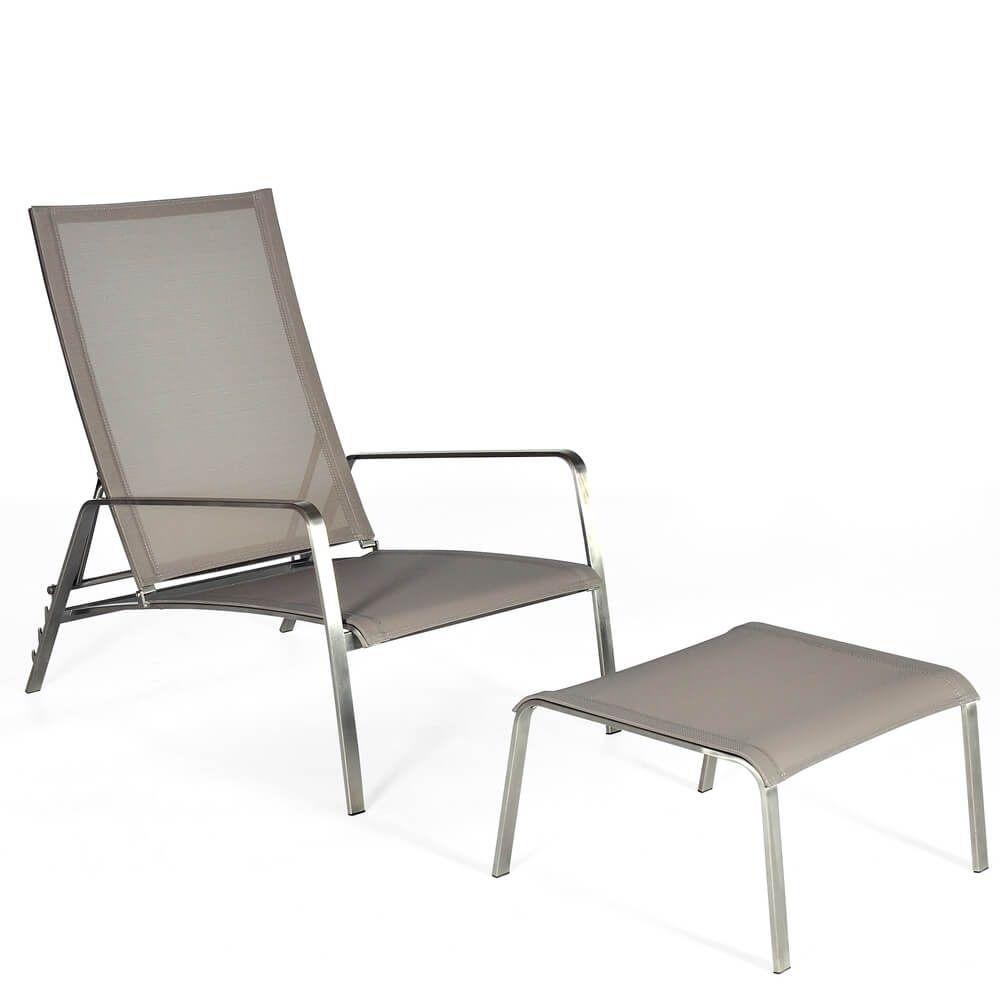 Lounge Sessel Set Denver Aluminium Taupe Jetzt bestellen unter ...