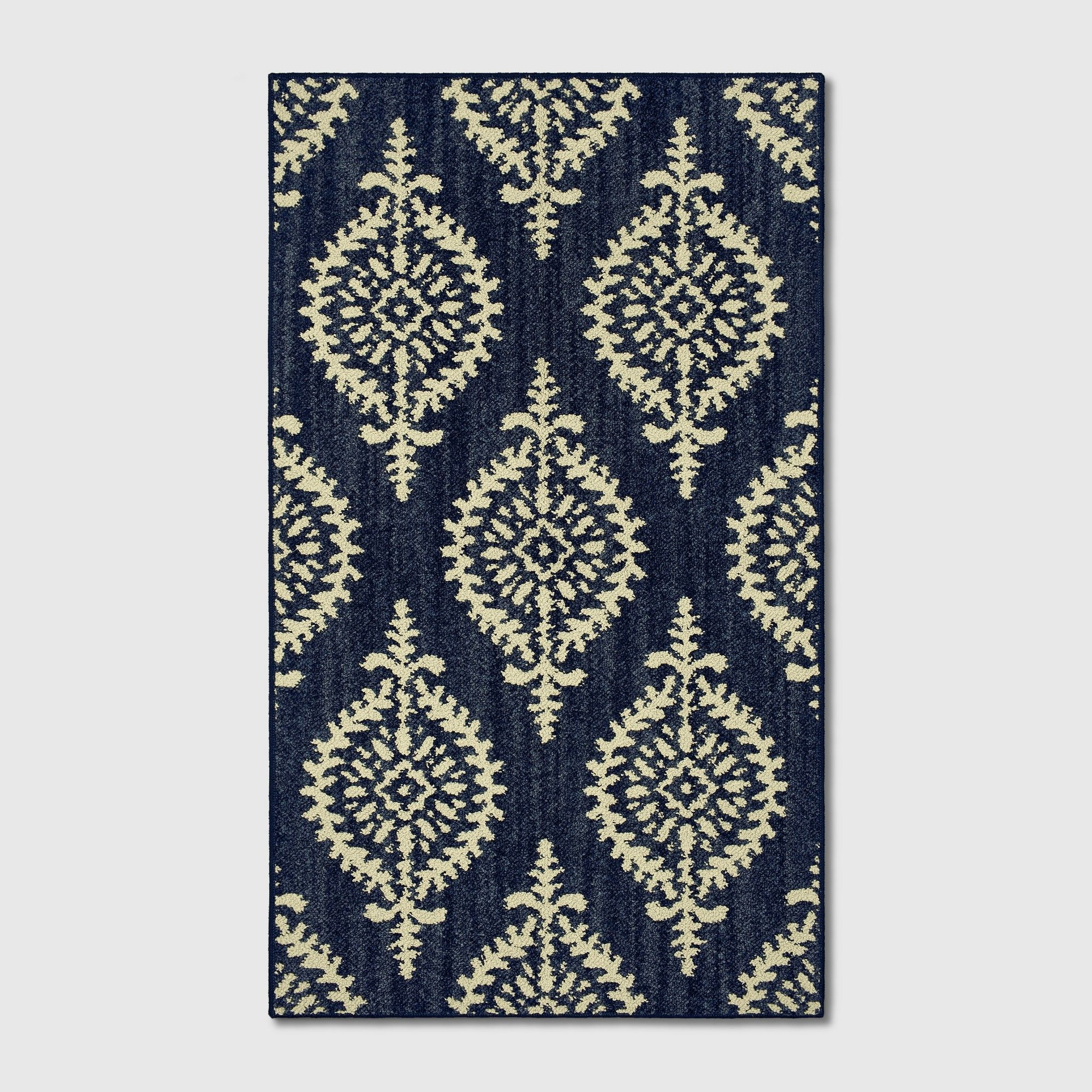 1 8 X2 10 Paisley Tufted Accent Rugs Indigo Threshold Size 1 8 X2 10 20 X34 Blue Accent Rugs Rug Material Rugs