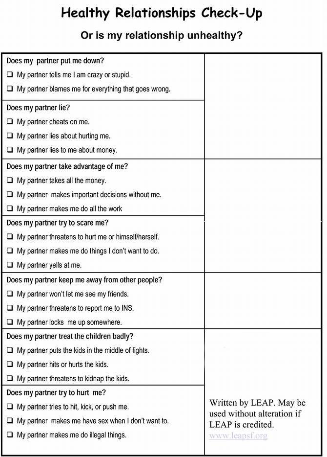 Image result for Healthy Boundaries Worksheet – Couples Communication Worksheets