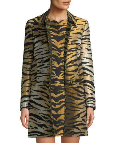 fcbc33ba134c2 RED Valentino Tiger Brocade Double-Breasted Coat   Products
