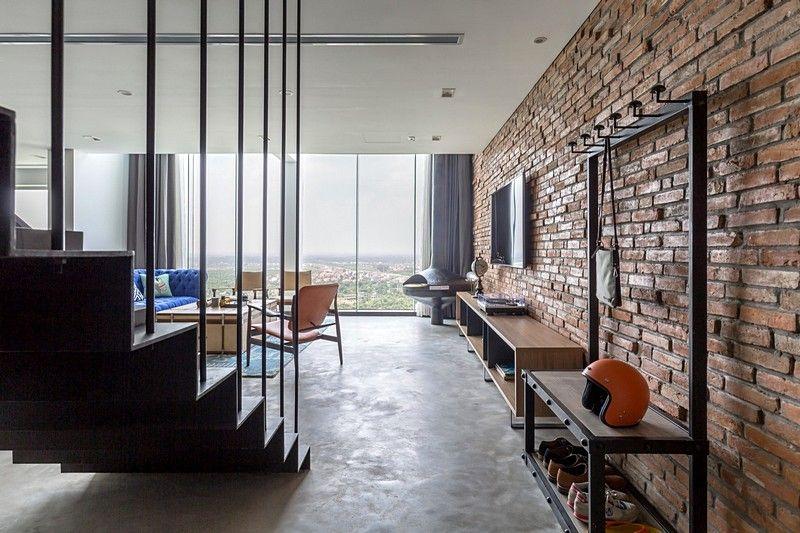 Ecopark Penthouse By Ihouse Vietnam Industrial Interior Design
