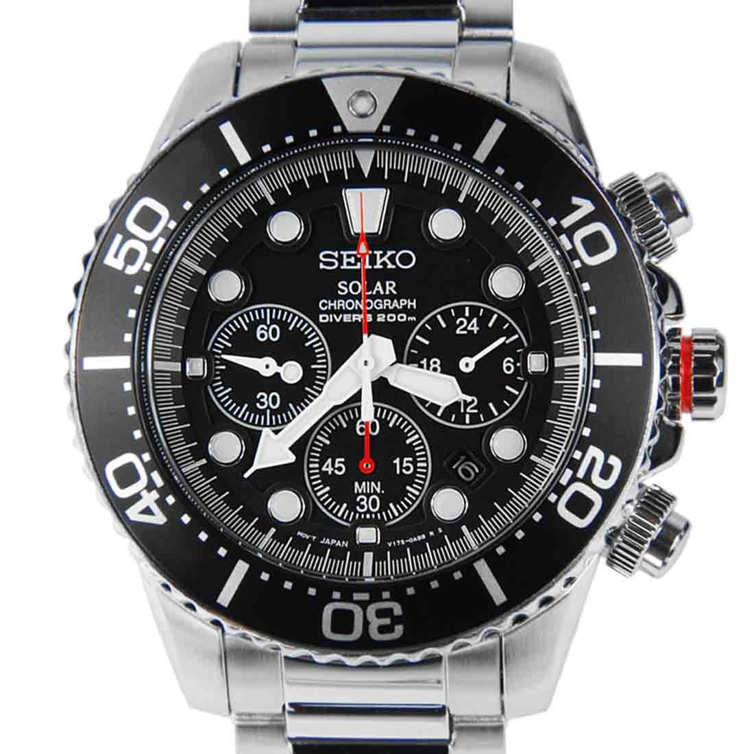 Seiko Solar Chronograph Diver Watch SSC015P1 SSC015 in