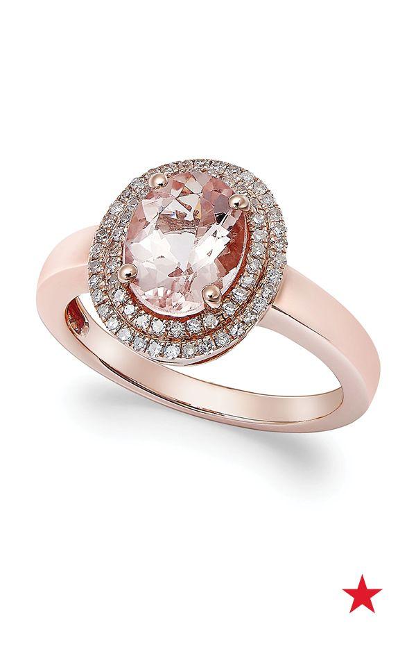 Angara Pear-Shaped Morganite Ring with Brown Diamond Halo oGQGyZZ
