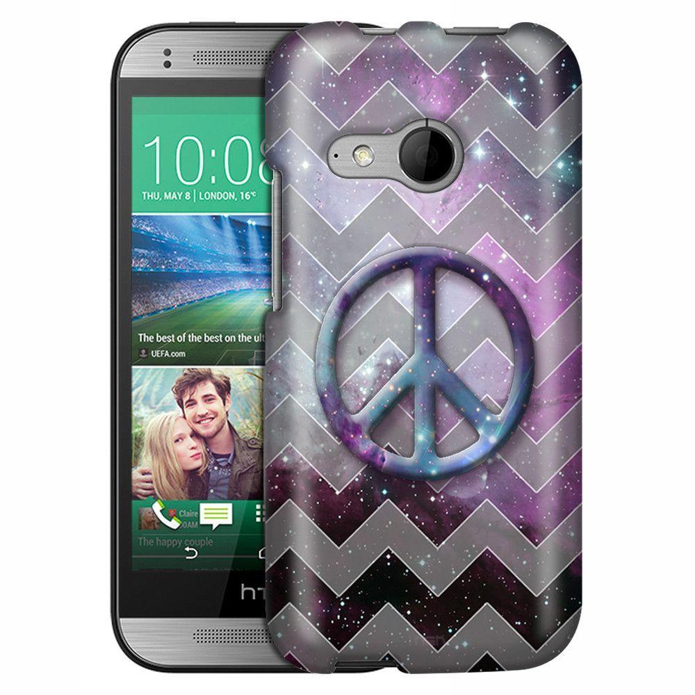 HTC One Remix Peace on Nebula Grey Chevrons Slim Case