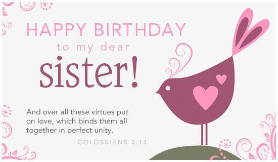 Happy Birthday To My Dear Sister happy birthday happy birthday – Happy Birthday Card for My Sister