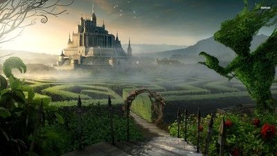 Castle garden wallpaper #63754
