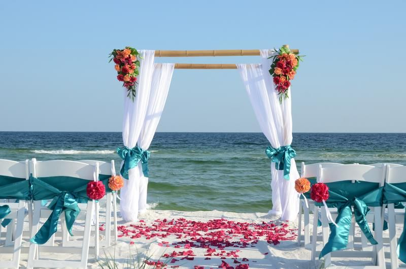 Beach Wedding Arch Ideas: Cheap Beach Weddings Destin Florida, Bamboo Wedding Arbor