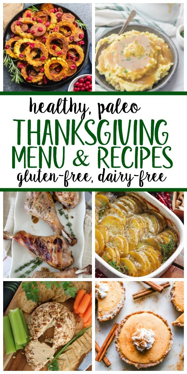 Complete Paleo Thanksgiving Menu (Whole30, Dairy F