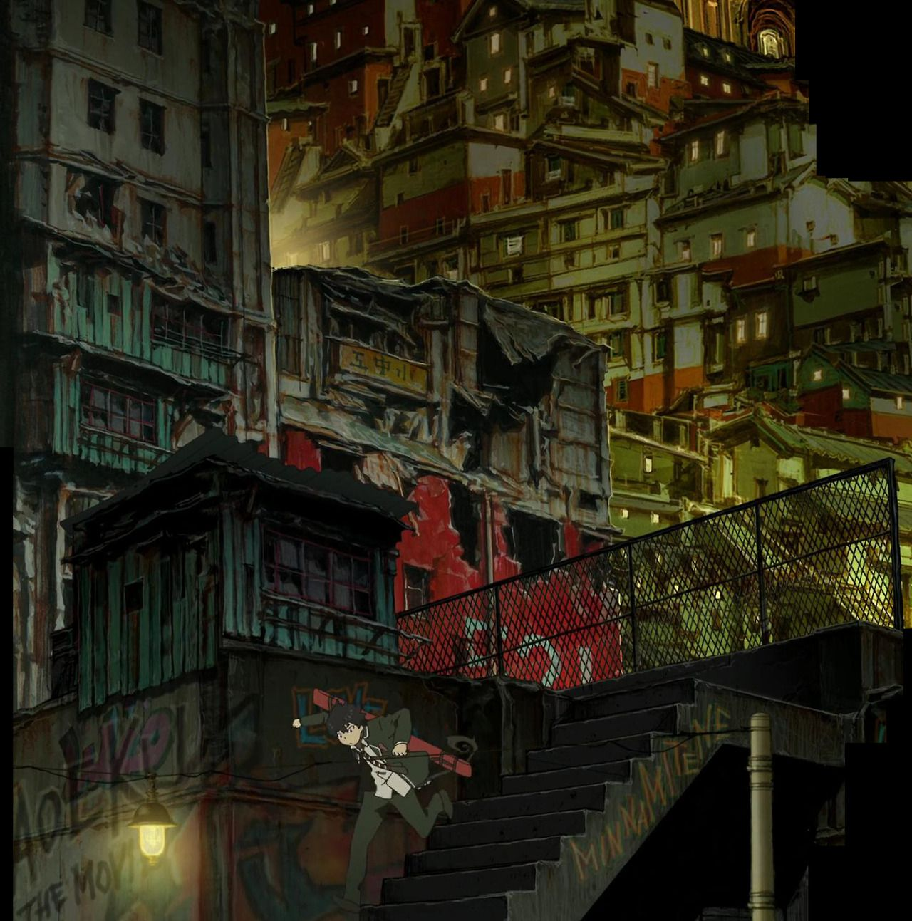 Ao no Exorcist movie Shinji Kimura Anime background
