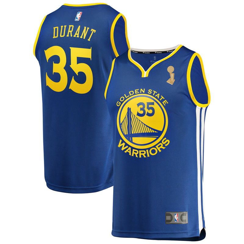 outlet store 3db2f 616c3 Kevin Durant Golden State Warriors Fanatics Branded 2018 NBA Finals  Champions Fast Break Replica Player Jersey Royal – Icon Edition