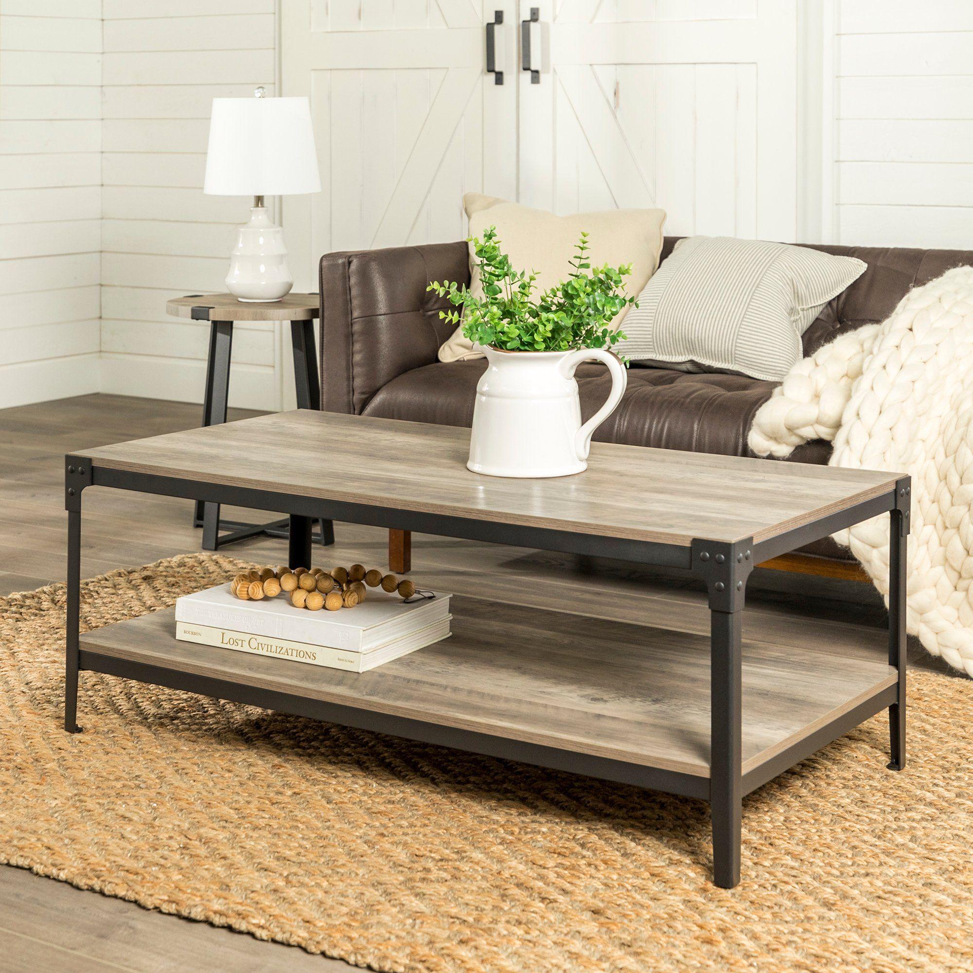 Rustic Wood Coffee Table Gray Wash Living Room Accent Tables Coffee Table Wood Living Room Table [ 2000 x 2000 Pixel ]