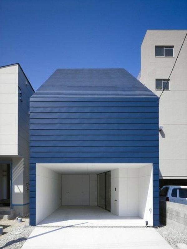 Kleines Modernes Haus Mit Blauem Dach #modernearchitketur #architektur
