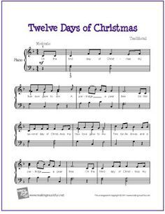 Twelve Days of Christmas | Easy piano sheet music, Christmas piano sheet music, Christmas sheet ...