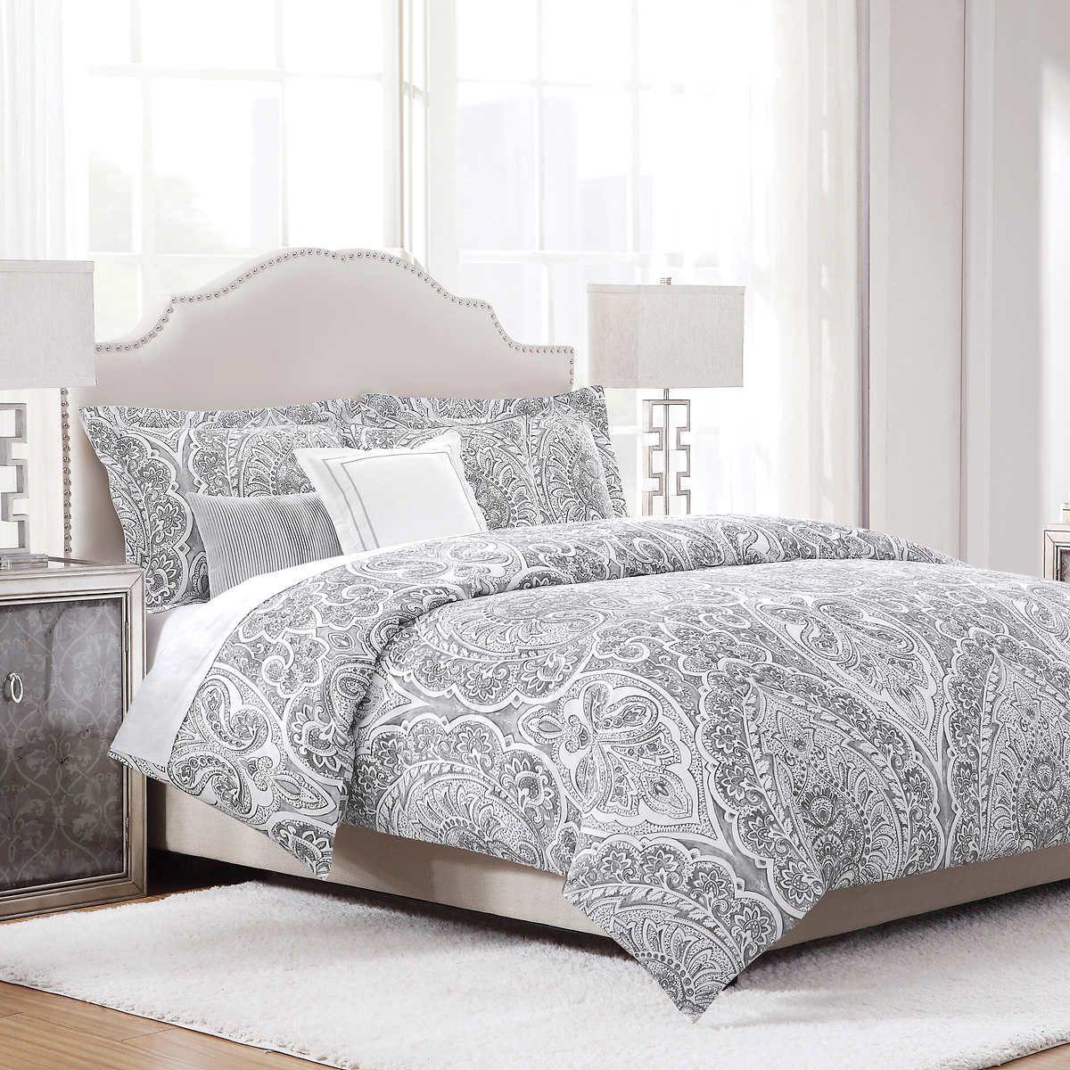 Costco. king sized gray comforter set | Grey comforter, Grey