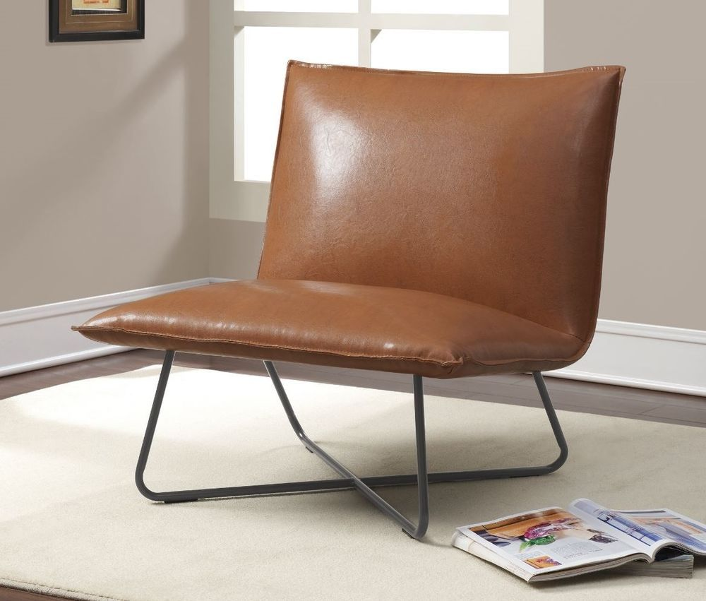 details about modern side accent pillow chair leather mid century