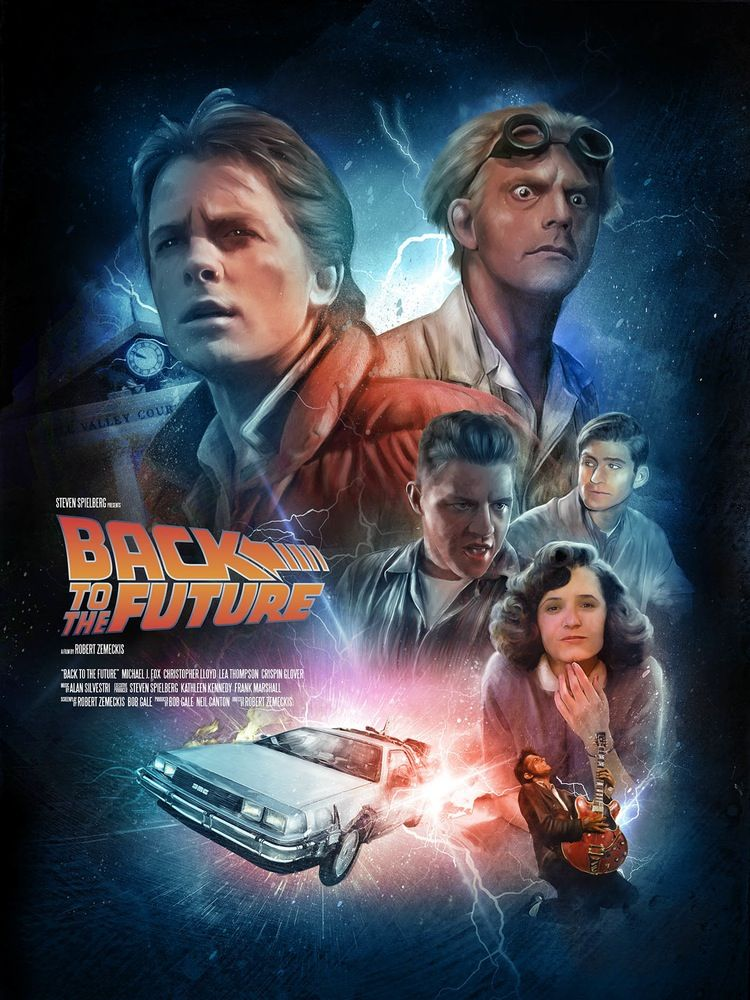 back to the future by rich davies posters art pinterest future movie and films. Black Bedroom Furniture Sets. Home Design Ideas