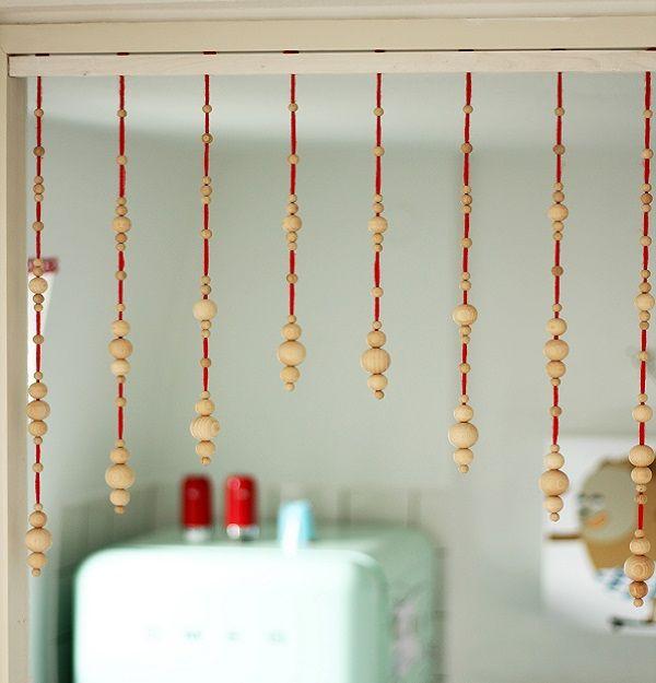 DIY-Anleitung Perlen-Vorhang selber machen via DaWanda - k chenherd mit wasserschiff