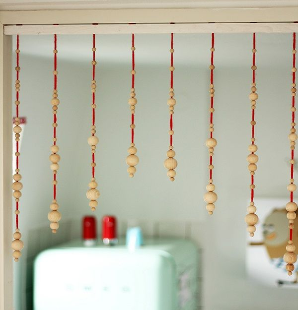DIY-Anleitung Perlen-Vorhang selber machen via DaWanda - dekoration k che selber machen