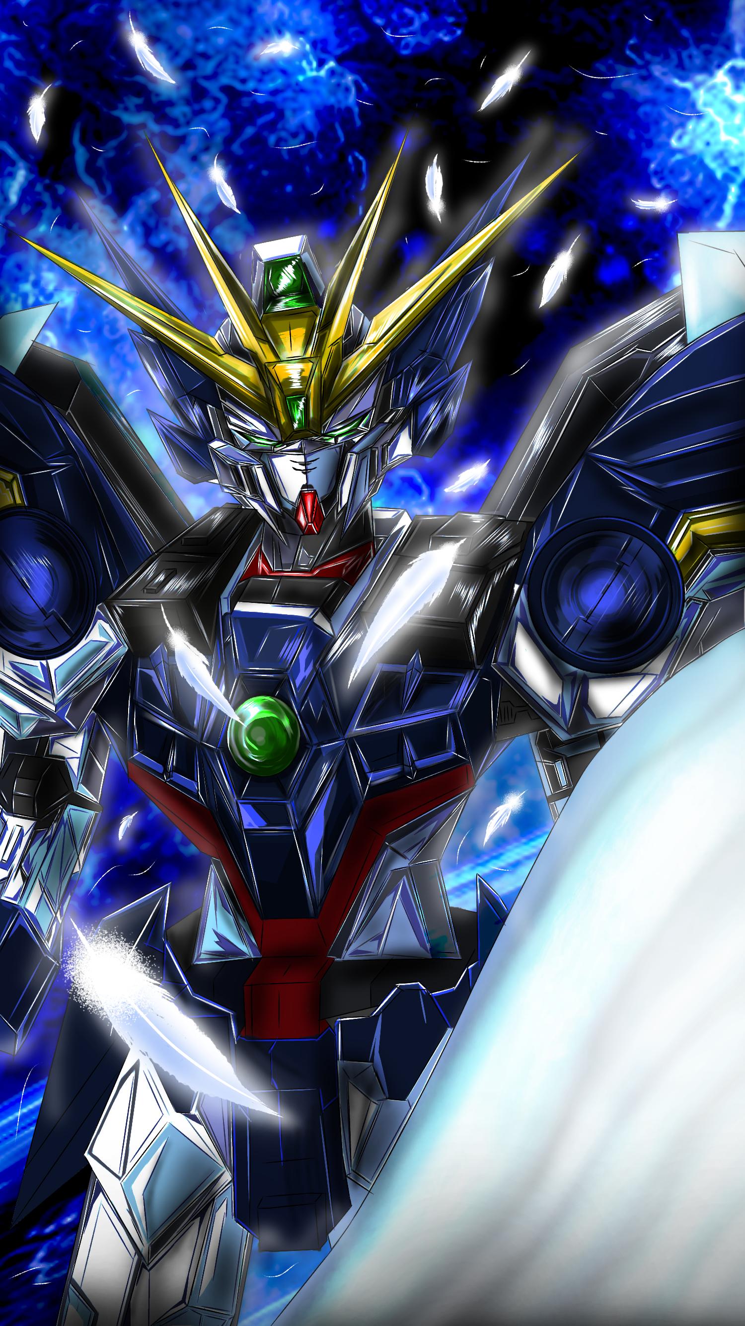 ウイングガンダムゼロew Gundam Wallpapers Gundam Exia Gundam Art