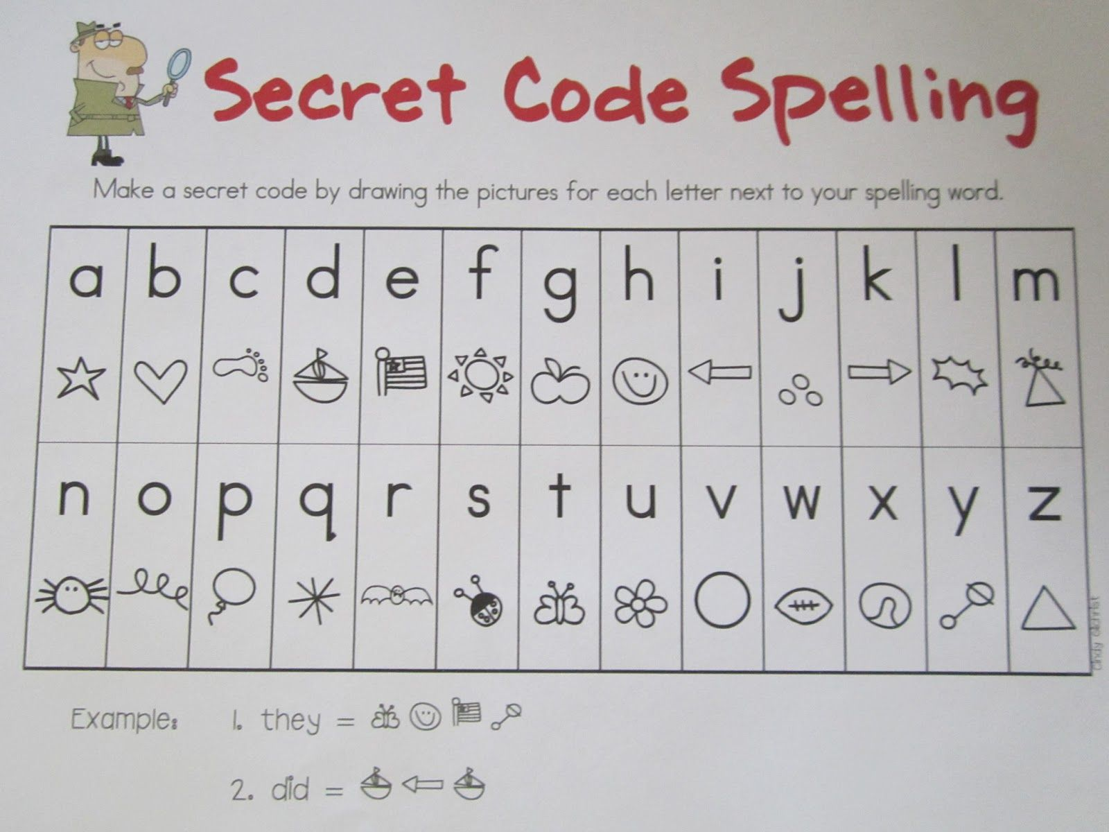 Secret Alphabet Codes