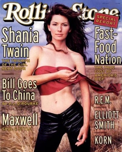 Shania Twain's first Rolling Stone cover - September 3, 1998