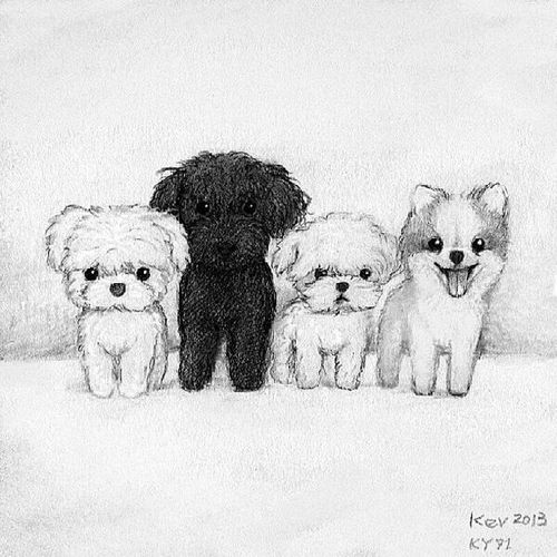 Cute dogs drawing idea | Drawing and tattoo ideas ...