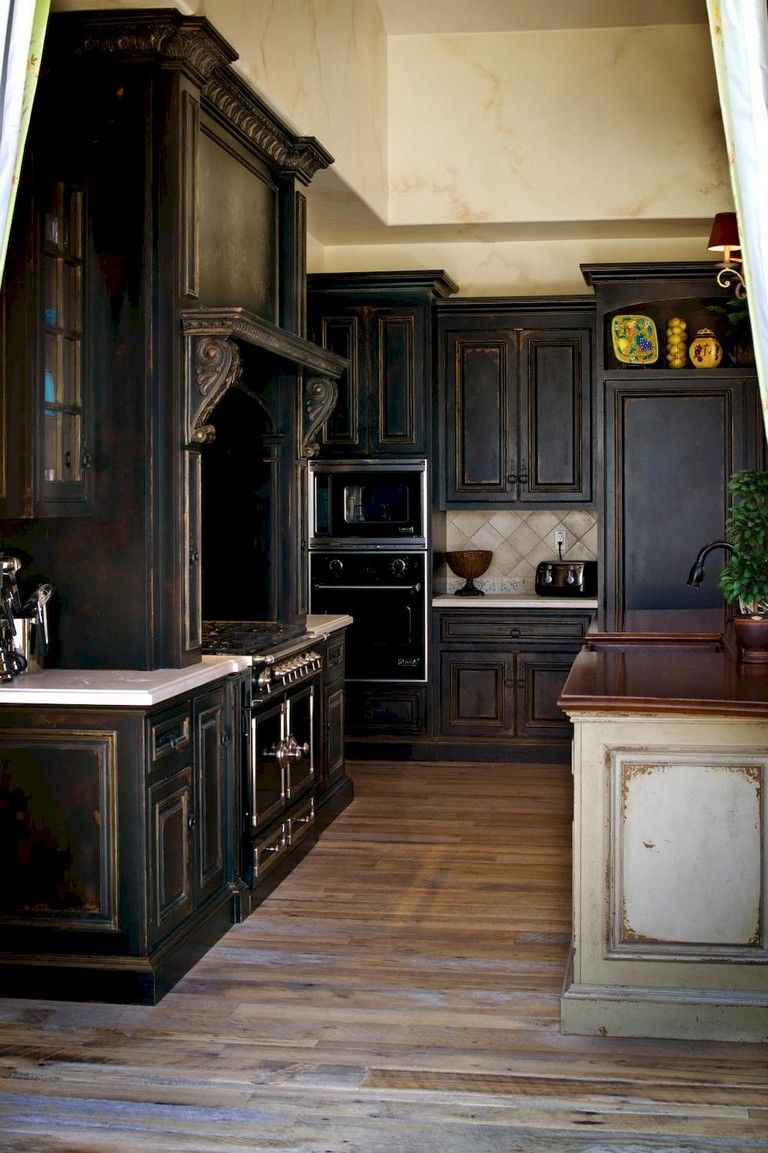 76 Rural Kitchen Cabinet Makeover Ideas Black Kitchen Cabinets Distressed Kitchen Cabinets Distressed Kitchen