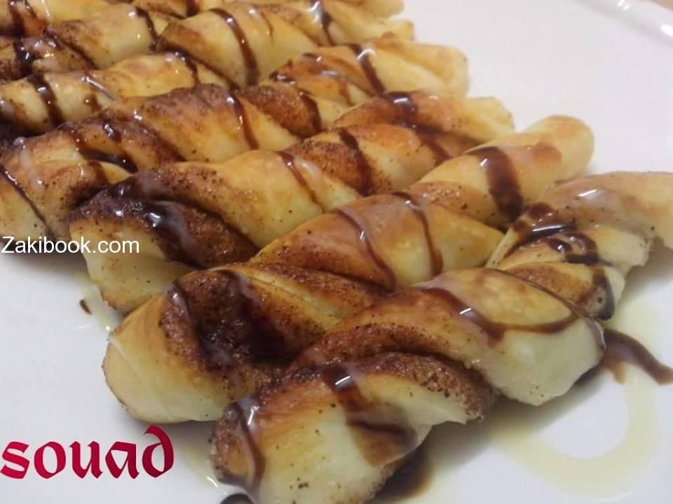 اصابع القرفة الملفوفة زاكي Food Sweet Pastries Best Dishes