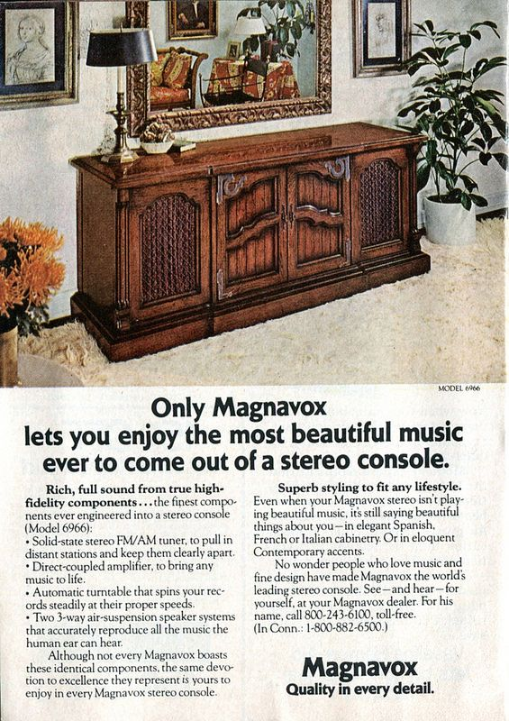 1975 Magnavox Stereo Console Advertisement Readers Digest November