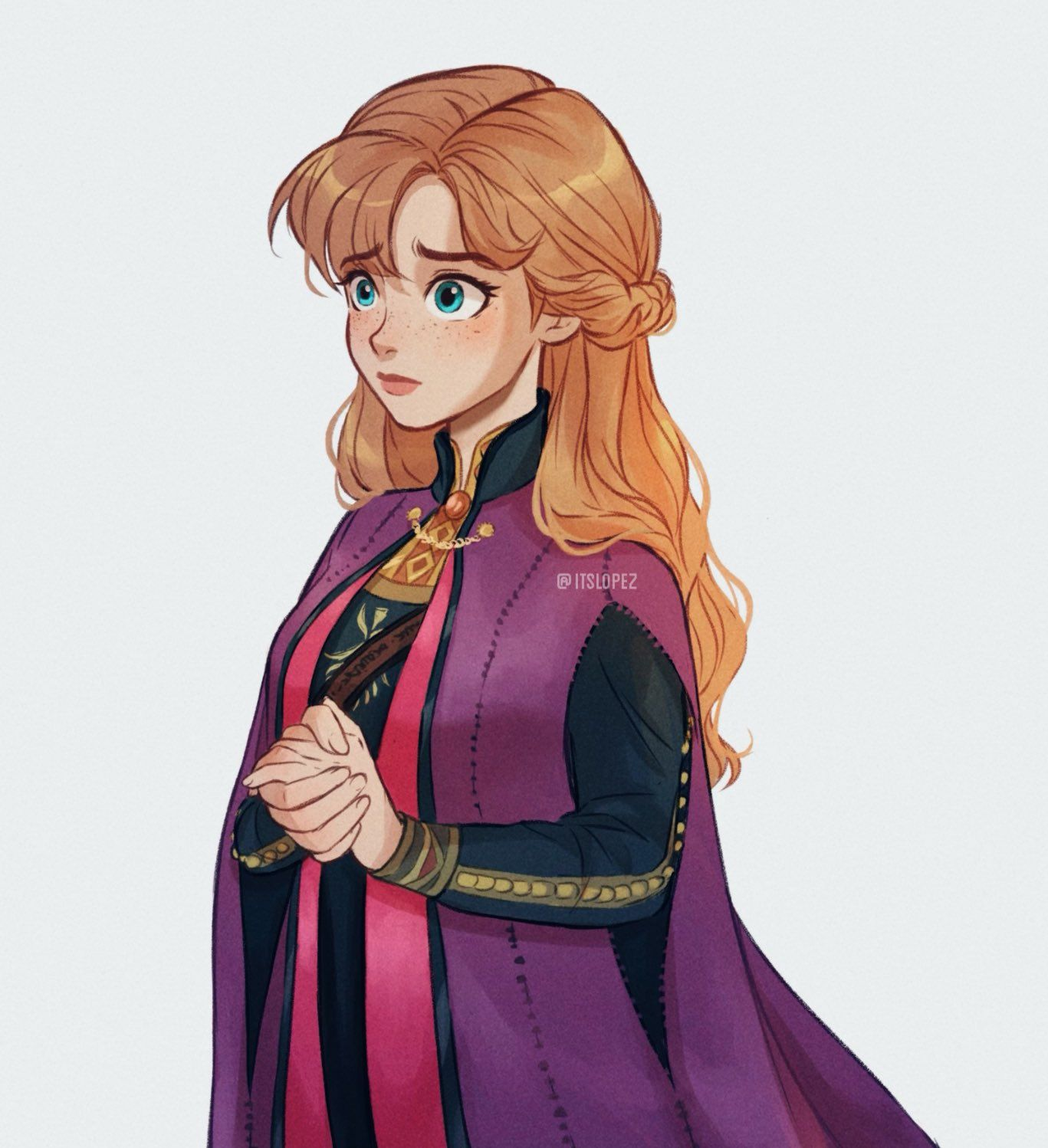 """Laia 🍓🌙 // MangaBCN✍🏼 on Twitter: """"I really really love this outfit Anna wears in #frozen2 the color palette is GORGEOUS🥺💜… """""""
