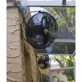 Outdoor Cooling Fan System Outdoor Lake House Misting Fan