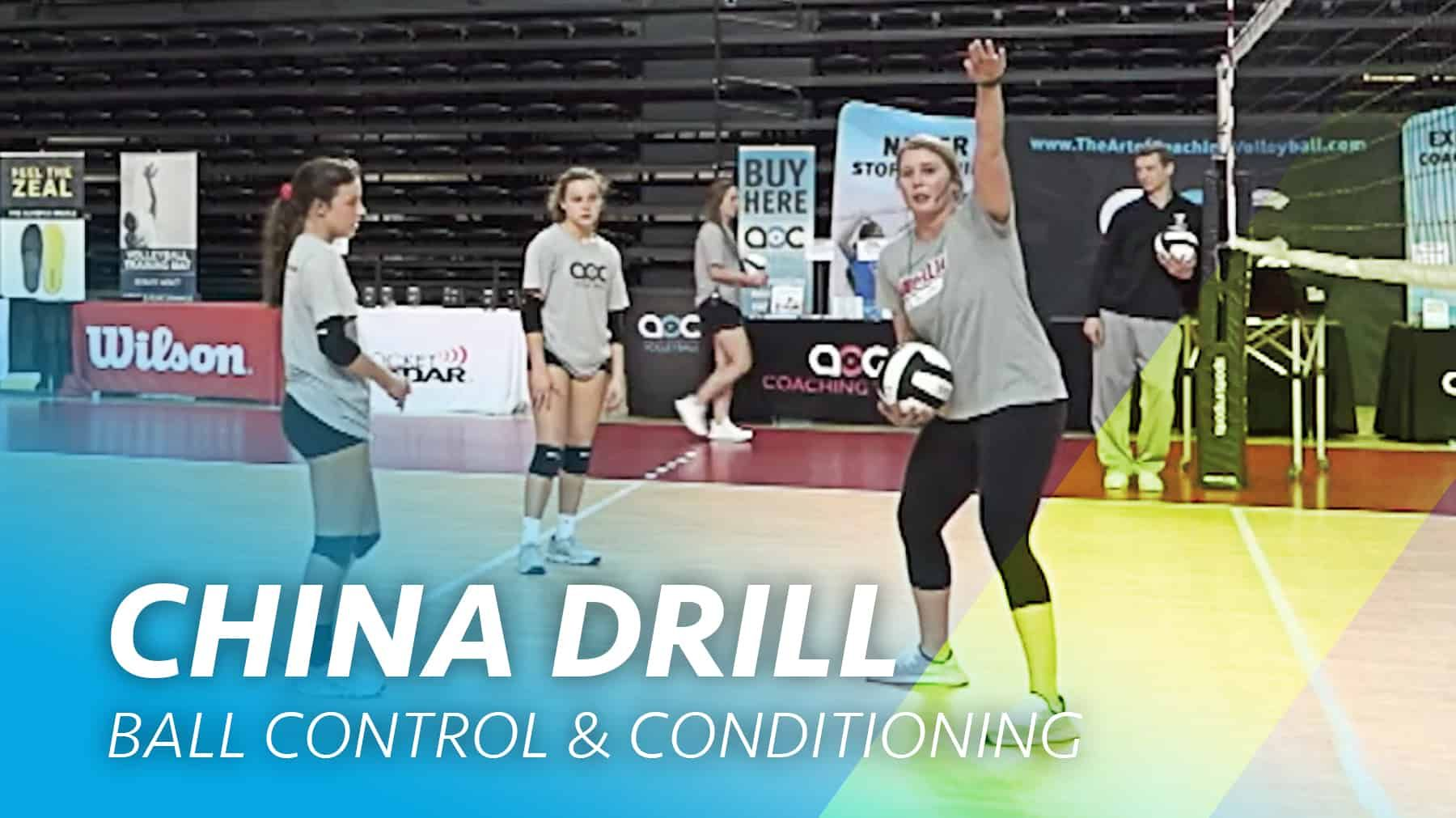 China Drill Ball Control And Conditioning The Art Of Coaching Volleyball Coaching Volleyball Volleyball Practice Volleyball Training