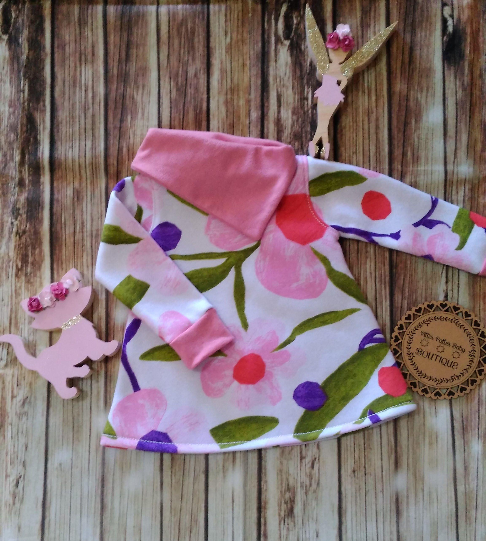 Cowl Neck Shirt Girls Winter Fleece Jumper Dress Baby Clothing